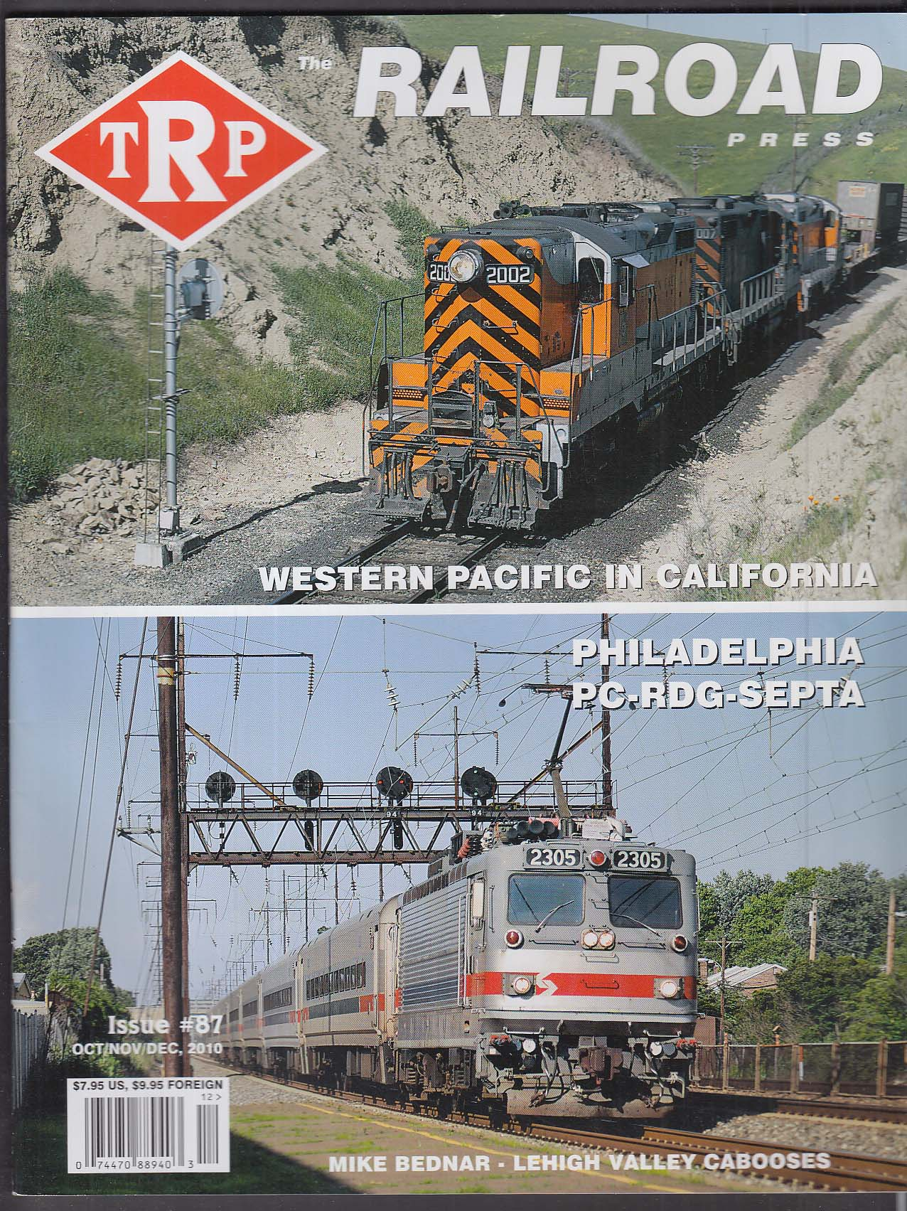 TRP #87 The Railroad Press Western Pacific California Philadelphia + 2010