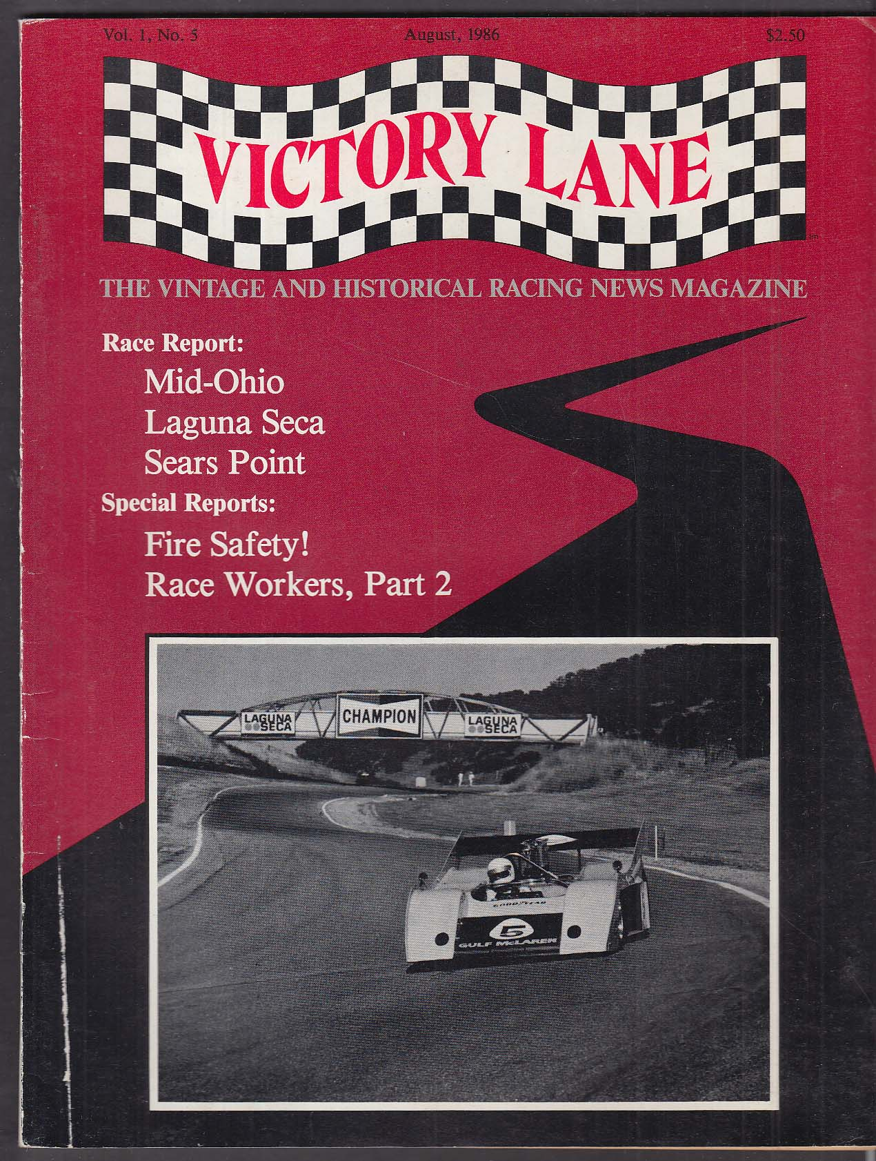 VICTORY LANE HMSA Laguna Seca SVRA Mid-Ohio VSCCA Mt Equinox + 8 1986