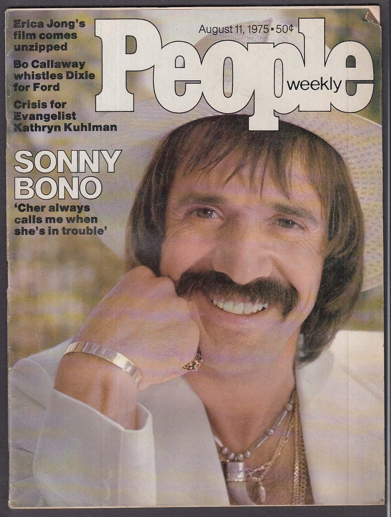 PEOPLE Sonny Bono Erica Jong Bo Callaway Kathryn Kuhlman + 8/11 1975