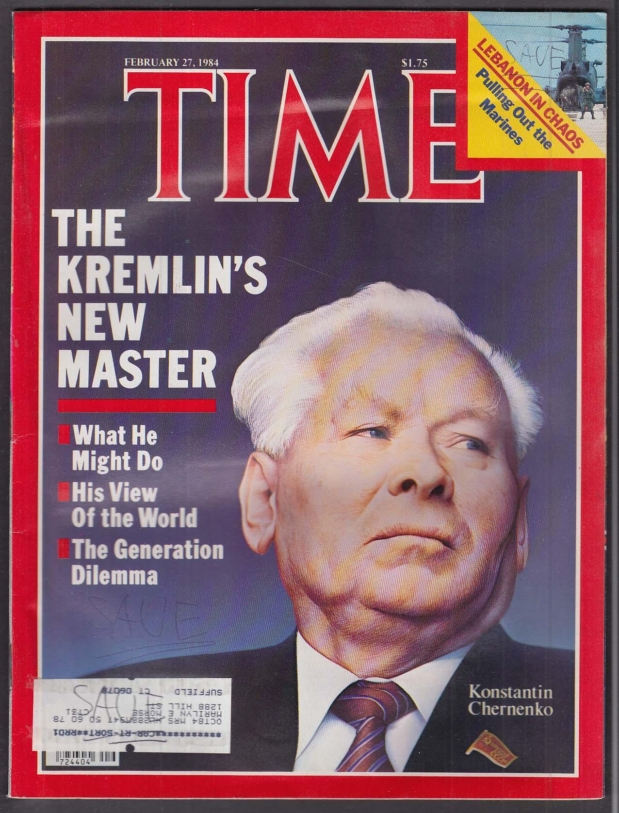TIME Konstantin Chernenko Lebanon Olympics + 2/27 1984
