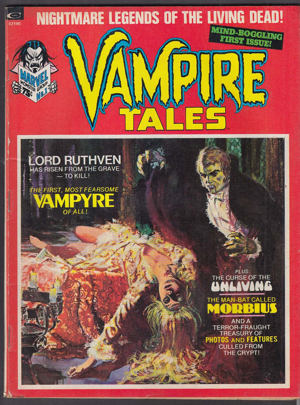 VAMPIRE TALES Vol 1 #1 Marvel comic book 1973 Esteban Maroto Chris Claremont +