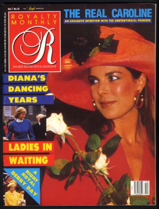 ROYALTY V7n10 7 1988: Princess Caroline of Monaco; Princess Diana dancing