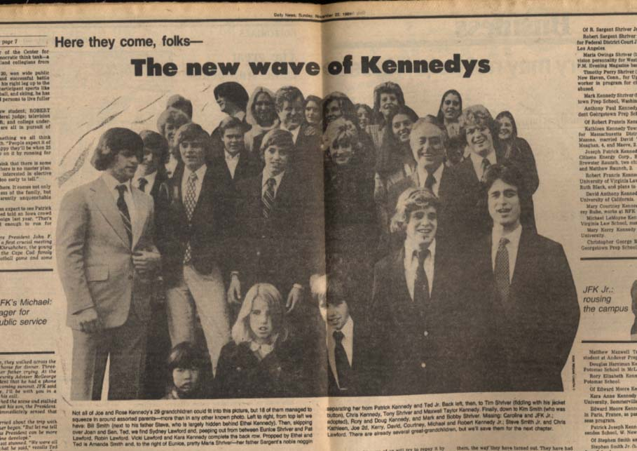 NY DAILY NEWS 11/22 1981 New Kennedys coming; Penn St over ND 24-21