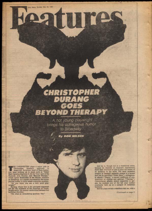 NY DAILY NEWS 5/23 1982 Falklands war; Jerry Cooney; J Geils; Christopher Durang