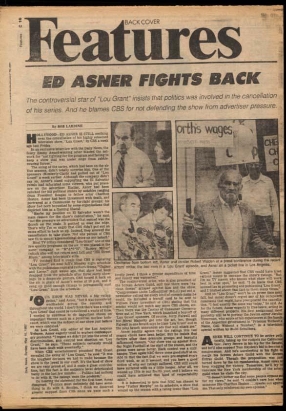 NY DAILY NEWS 5/16 1982 Falklands war; Preakness 76ers win Ed Asner Steve Martin