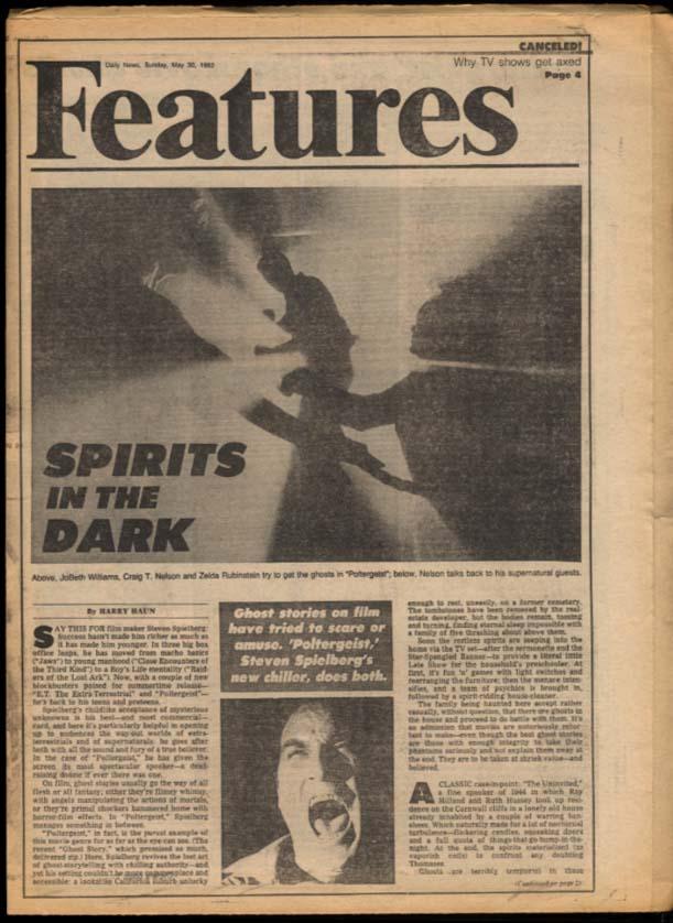 NY DAILY NEWS 5/30 1982 Falklands war; Yanks, Cosmos win; Poltergeist; Dr J