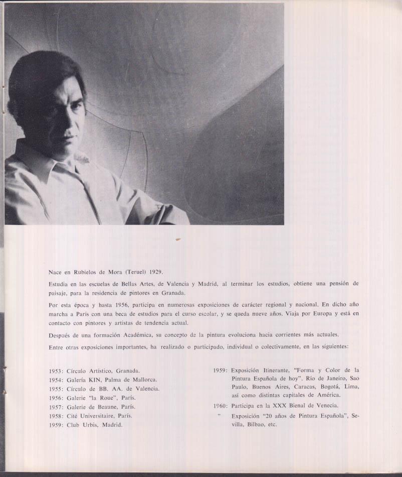 Salvador Victoria Pintura Recientes exhibit catalog Galeria Juana Mordo 1968