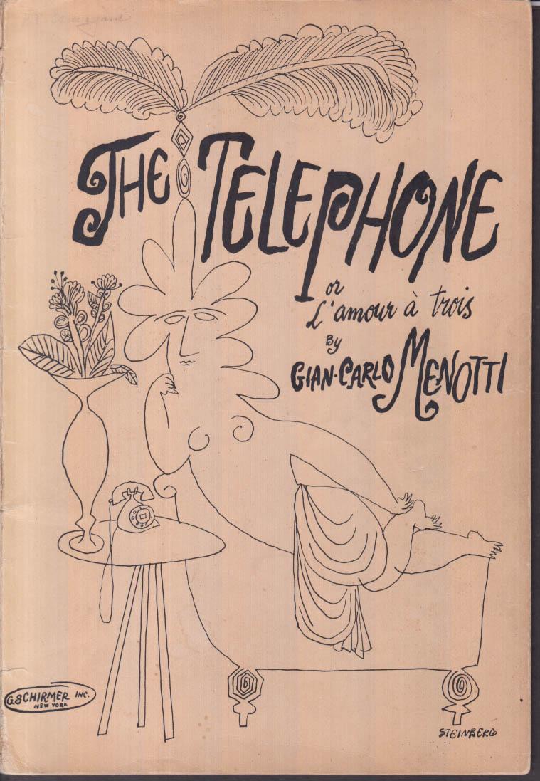 Image for Gian-Carlo Menotti: The Telephone score Steinberg art SIGNED by Byron Jones
