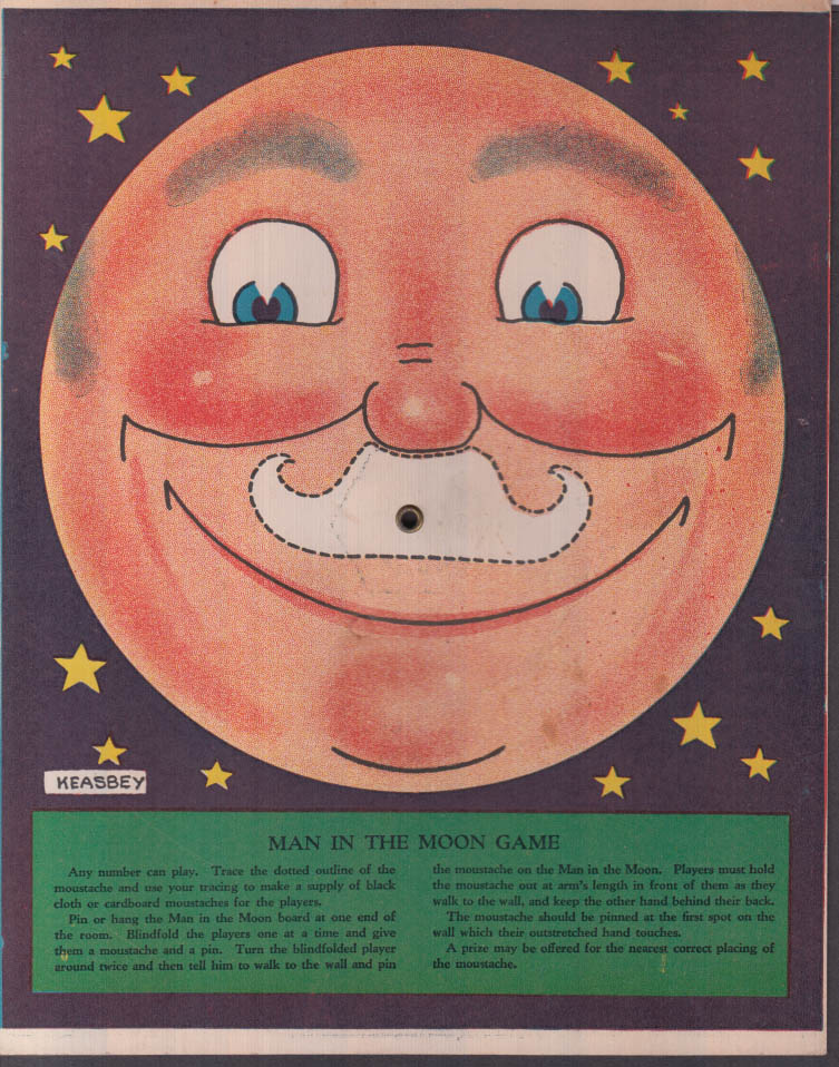Keasbey carboard game board Man in the Moon / Home, James ca 1930s