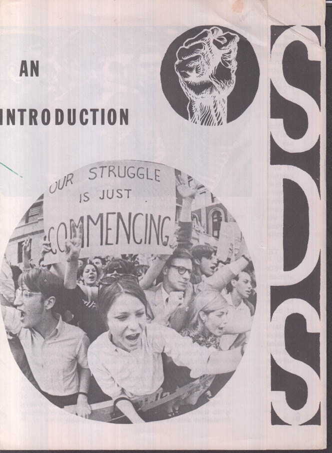 An Introduction to SDS Students for Democratic Society folder 1960s