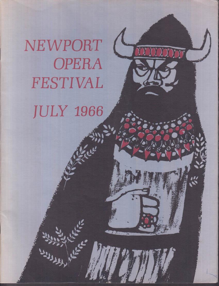 Newport Opera Festival Program 7 1966 Boheme Aida Carmen Lucia