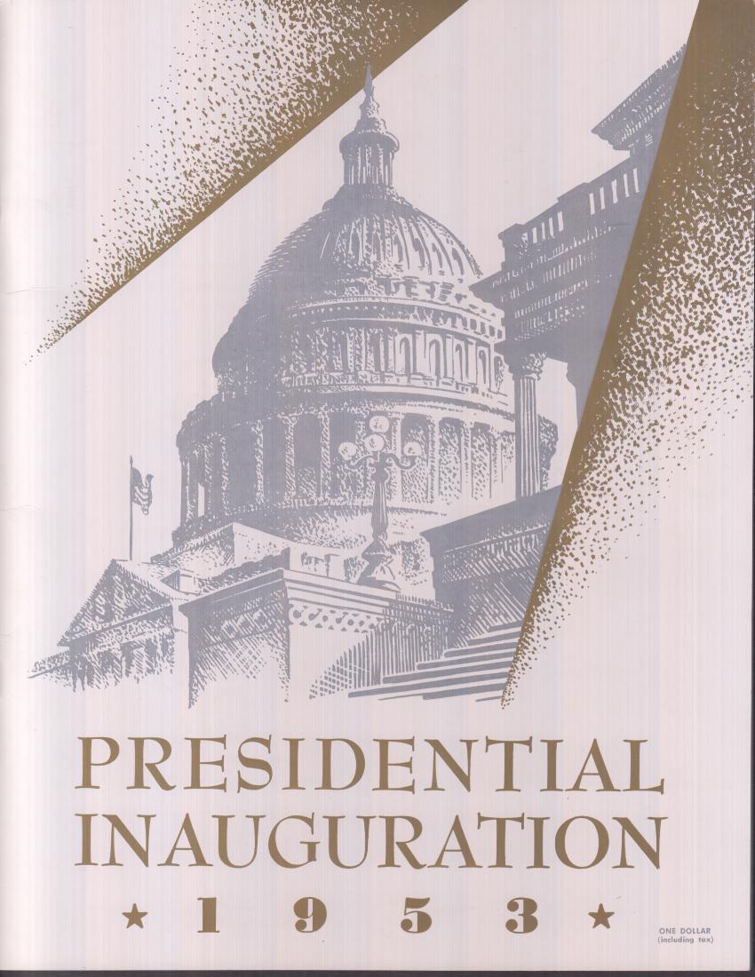 Eisenhower-Nixon Presidential Inauguration Official Program 1953 w/ envelope