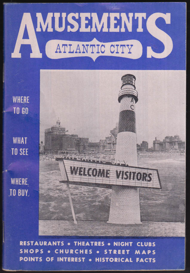 Atlantic City Amusements Guide Book 8/4 1962 NJ Lenny Bruce Everly Brothers +