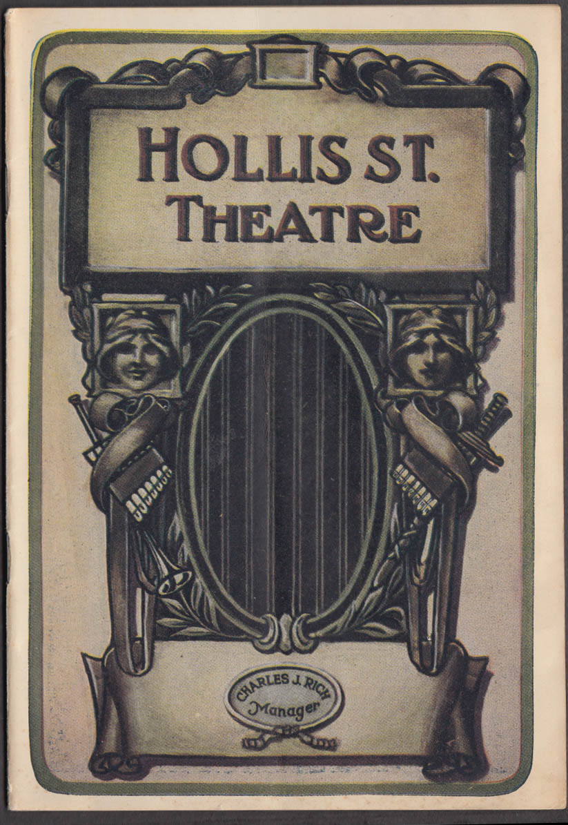 Hollis St Theatre Boston Playbill 1918 Miss Anglin in Billeted