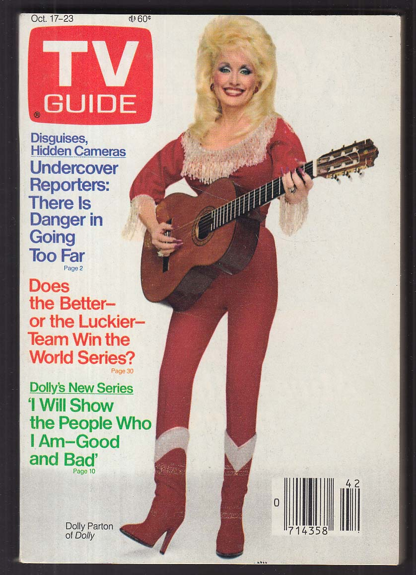 TV GUIDE Dolly Parton + 10/17 1987 Hartford-New Haven Edition