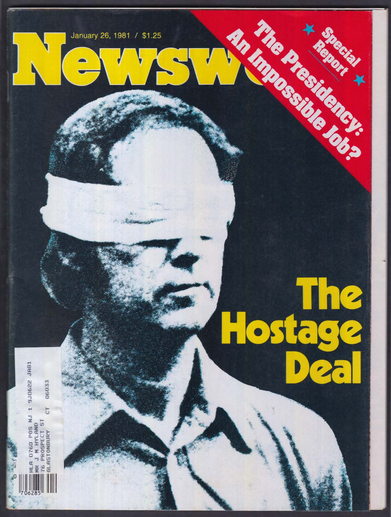 NEWSWEEK Iran Hostages Ronald Reagan El Salvador + 1/26 1981