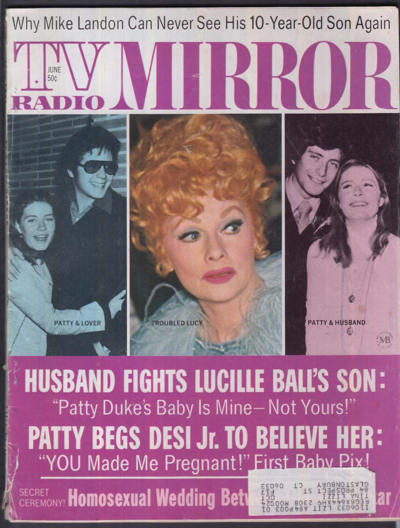 TV RADIO MIRROR Lucille Ball Desi Jr Patty Duke + 6 1971