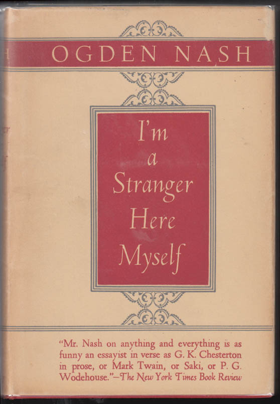 Image for SIGNED Ogden Nash: I'm a Stranger Here Myself 29th printing in dustjacket