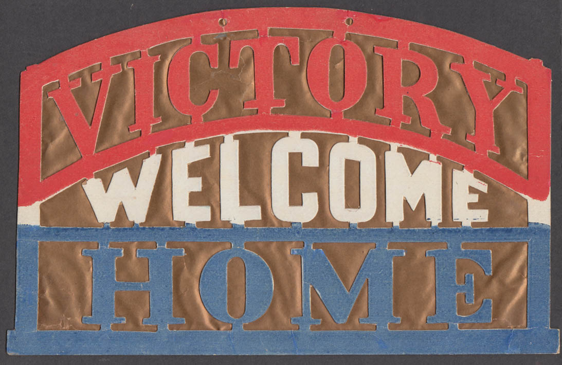 Welcome Home Victory World War I window display 1918