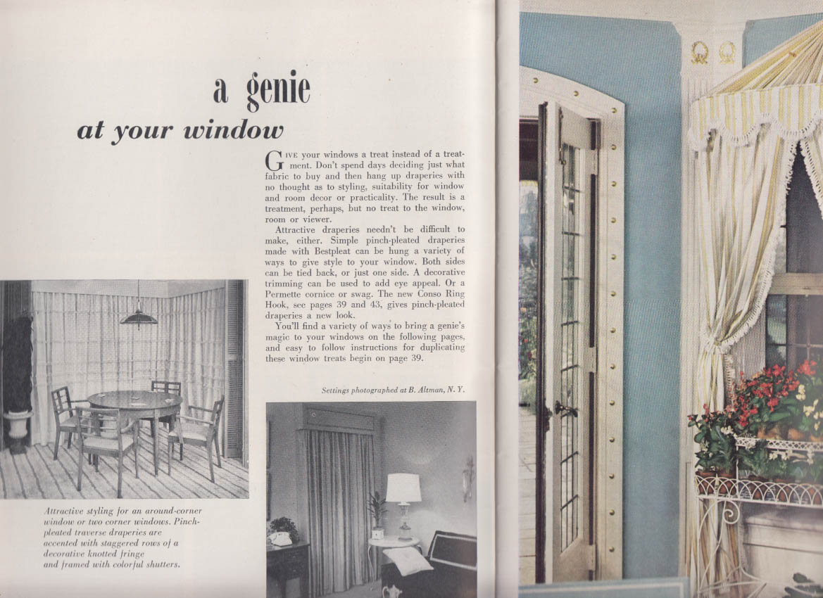 Consolidated Trimming Drapery & Upholstery 1001 Decorating Ideas #14 1957