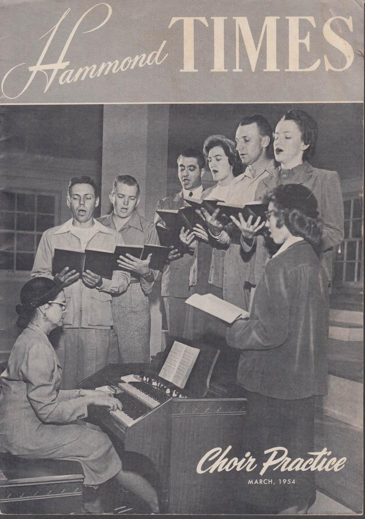 HAMMOND Organ TIMES 3 1954 Jesse Crawford Club; Prison Rehab OK Pen
