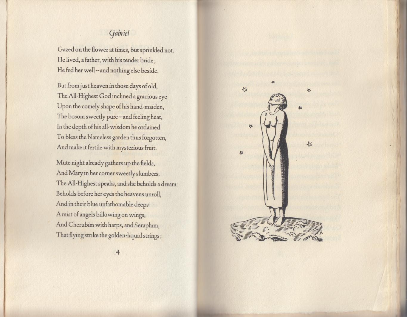 Alexander Pushkin: Gabriel A Poem in One Song 1st ed Rockwell Kent illus. 1929