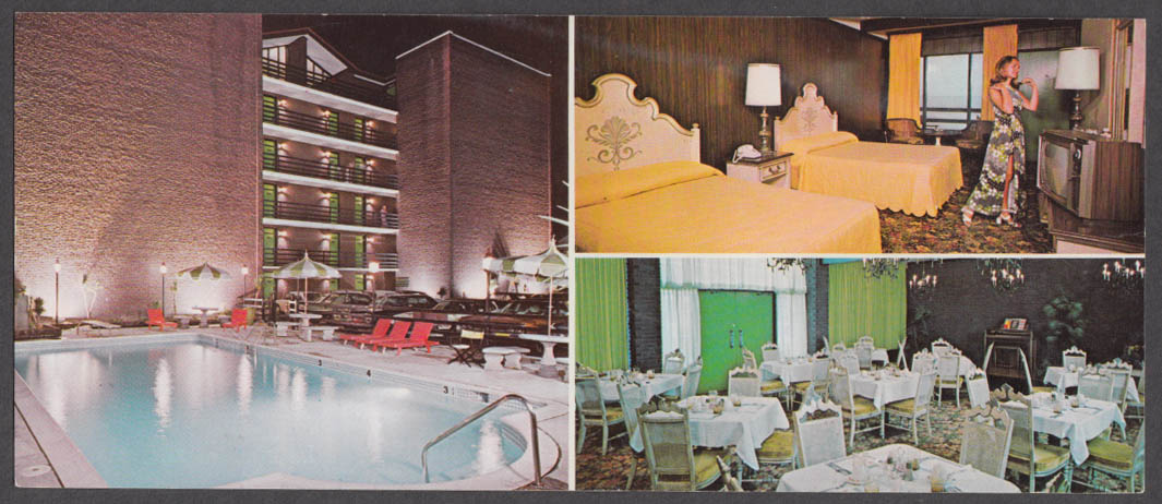Kona Kai's Restaurant long 3-view postcard Virginia Beach VA 1974