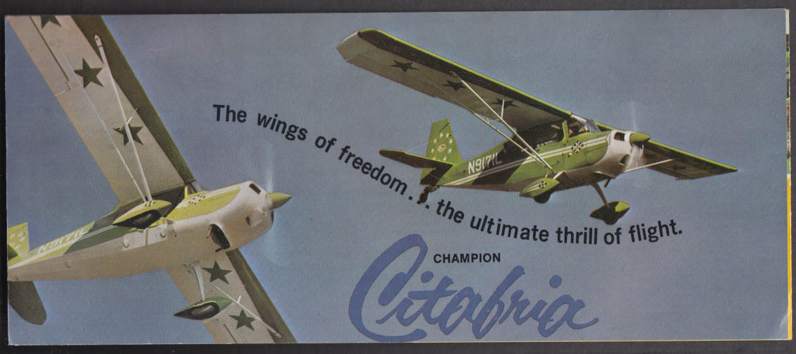 Bellanca Champion Citabria The Wings of Freedom private