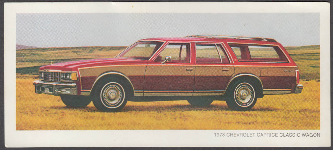1978 Chevrolet Caprice Classic Wagon sell card