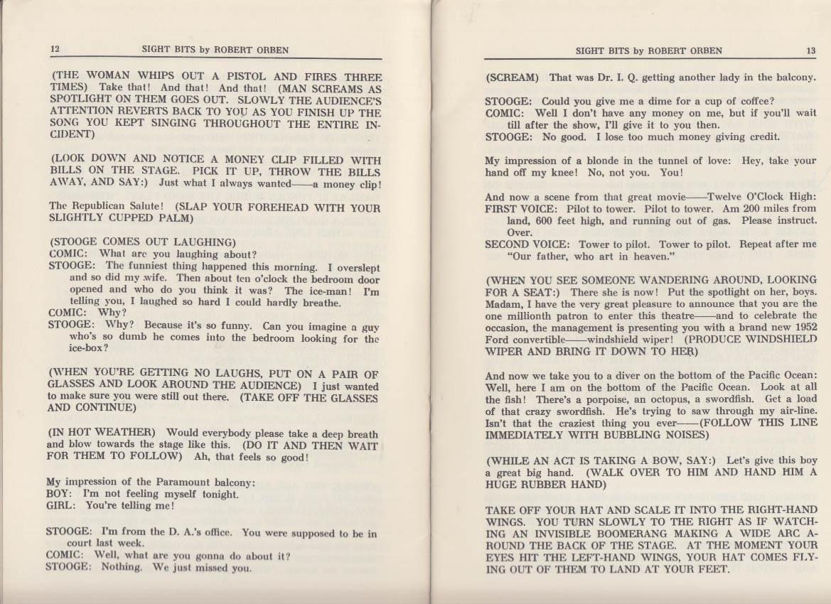 Robert Orben: Sight Bits Joke Book 3rd edition 1954