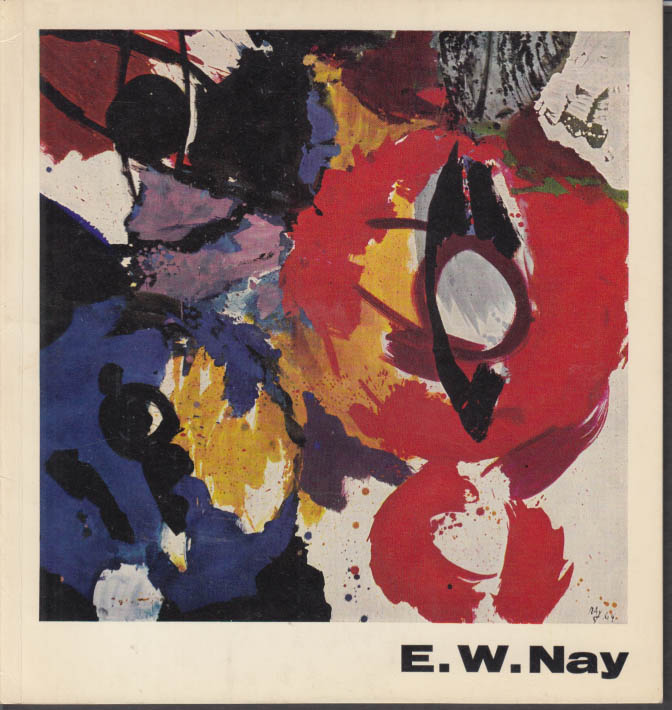 Ernst Wilhelm Nay SIGNED exhibition catalog Hamburg Germany 1964