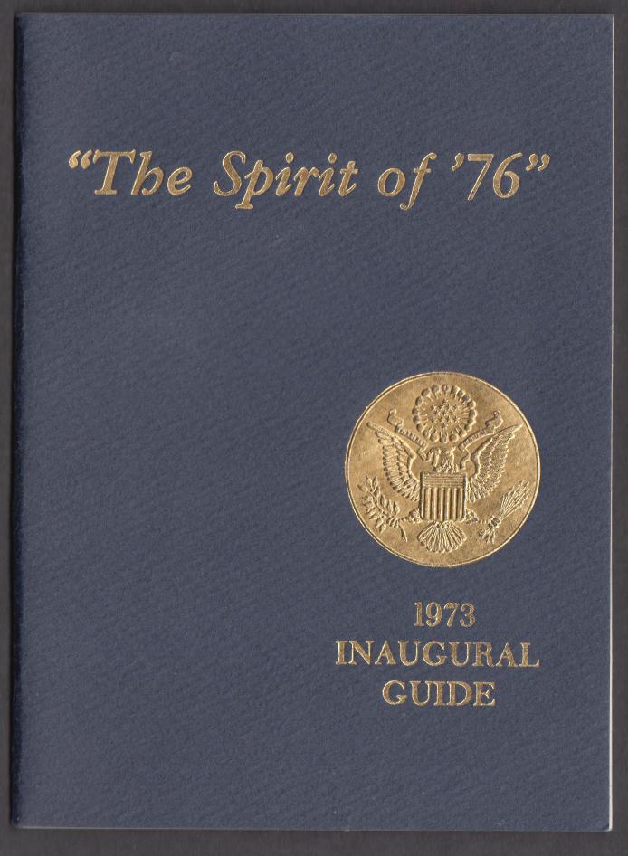 1973 Presidential Inaugural Guide Nixon-Agnew booklet