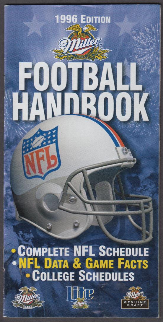 Miller Beer 1996 NFL Football Handbook & College Schedules booklet
