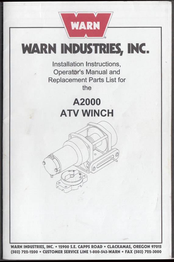 Warn Winch A2000 Schematic - daily update wiring diagram on