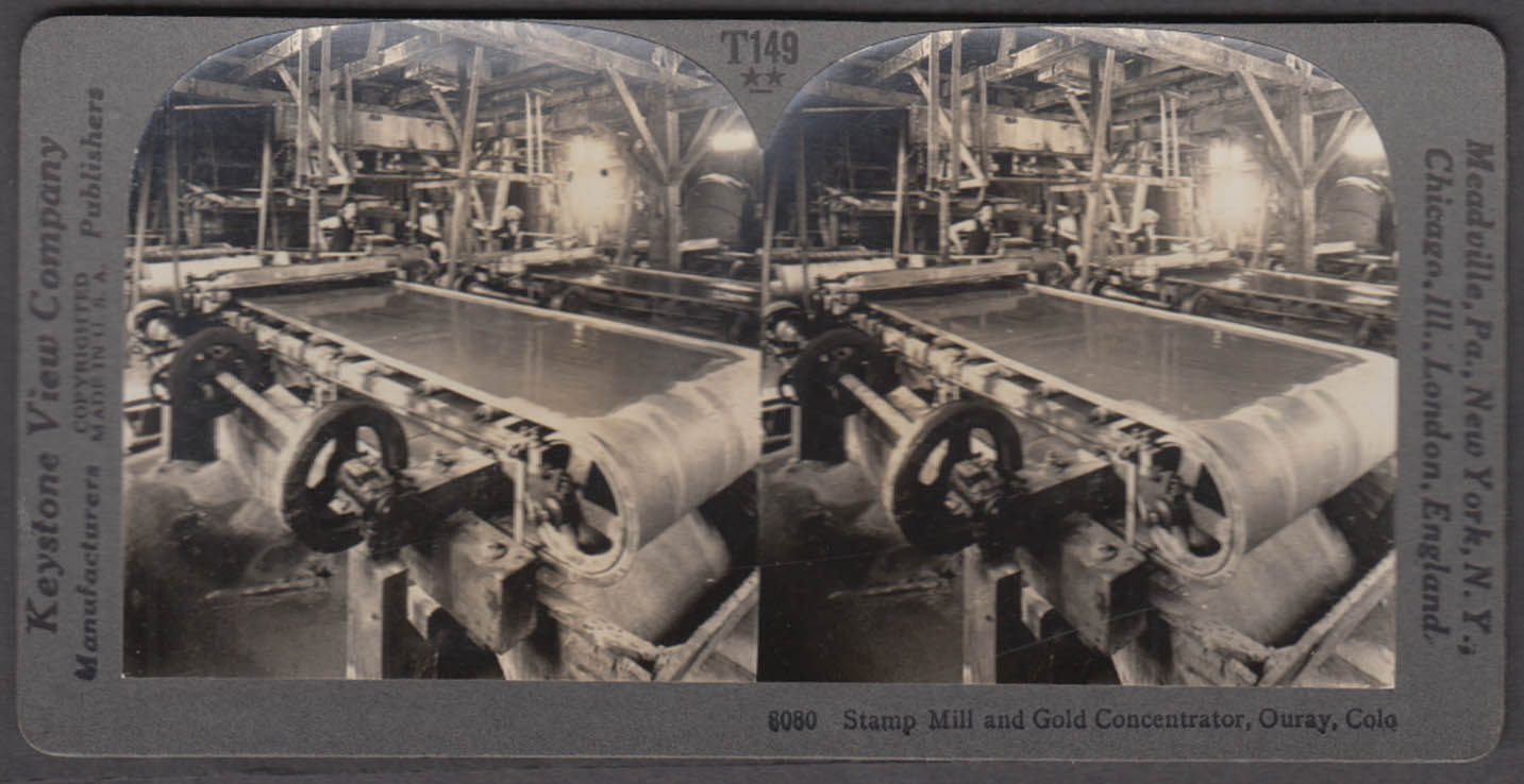 Image for Stamp Mill & Gold Concentrator Ouray CO Keystone stereoview ca 1915