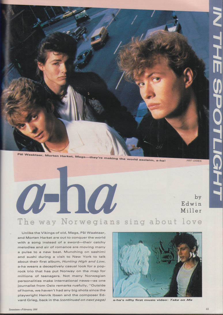 SEVENTEEN Charlie Sheen; fencer Jessica Yu; Norwegian rockers A-Ha 2 1986