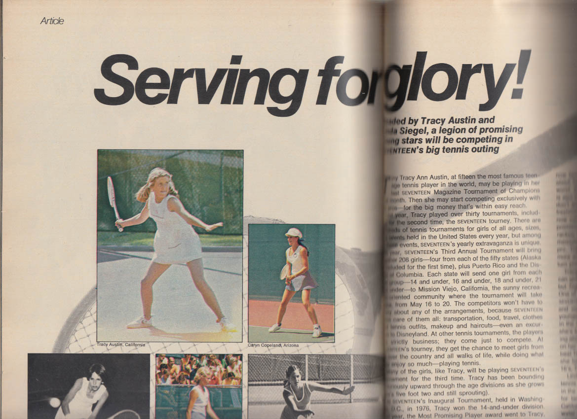 SEVENTEEN 4 1978 Athlete Linda Sweatt; John Travolta Grease; Tracy Austin +