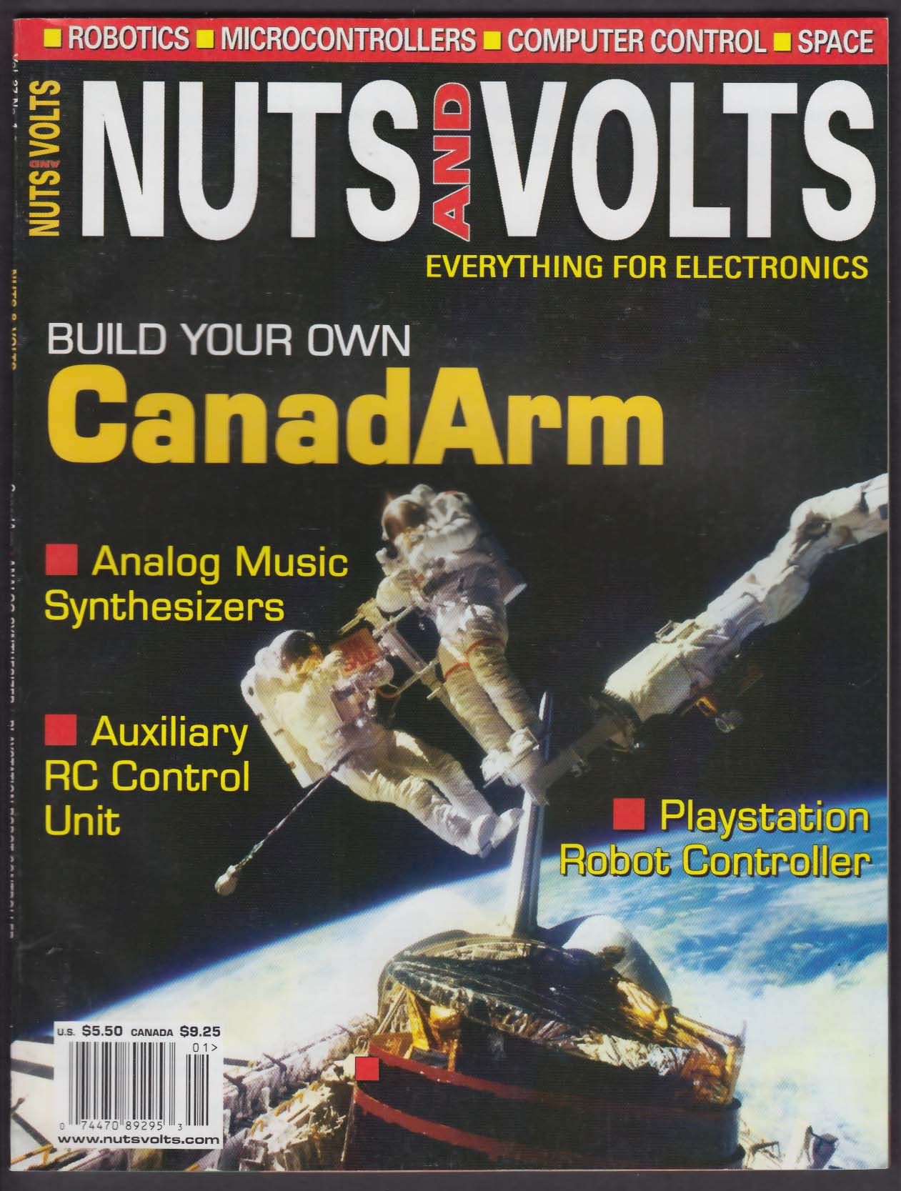 NUTS & VOLTS CanadArm Auxiliary RC Control Unit Analog Synthesizers 1 2006