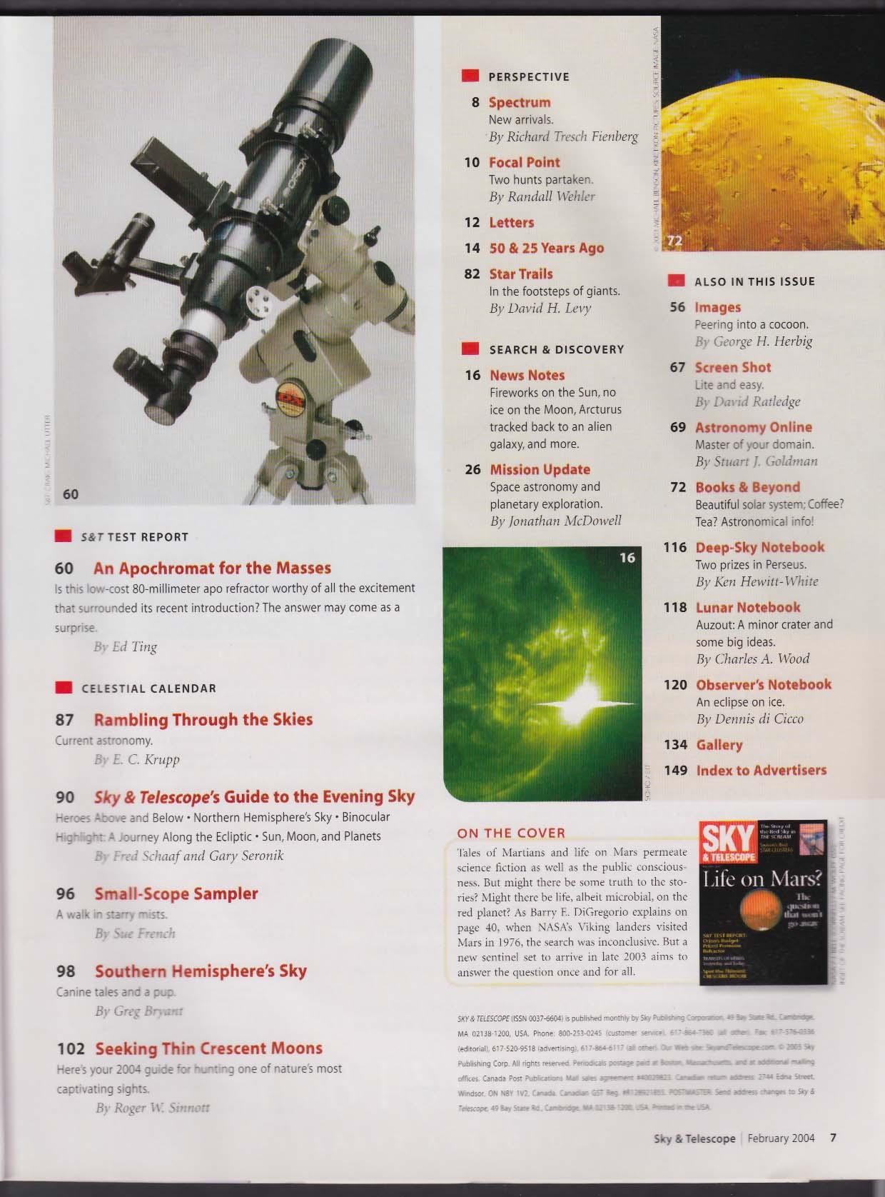 SKY & TELESCOPE Mars Evard Munch Folding-Truss Dobsonian Apochromat 2 2004