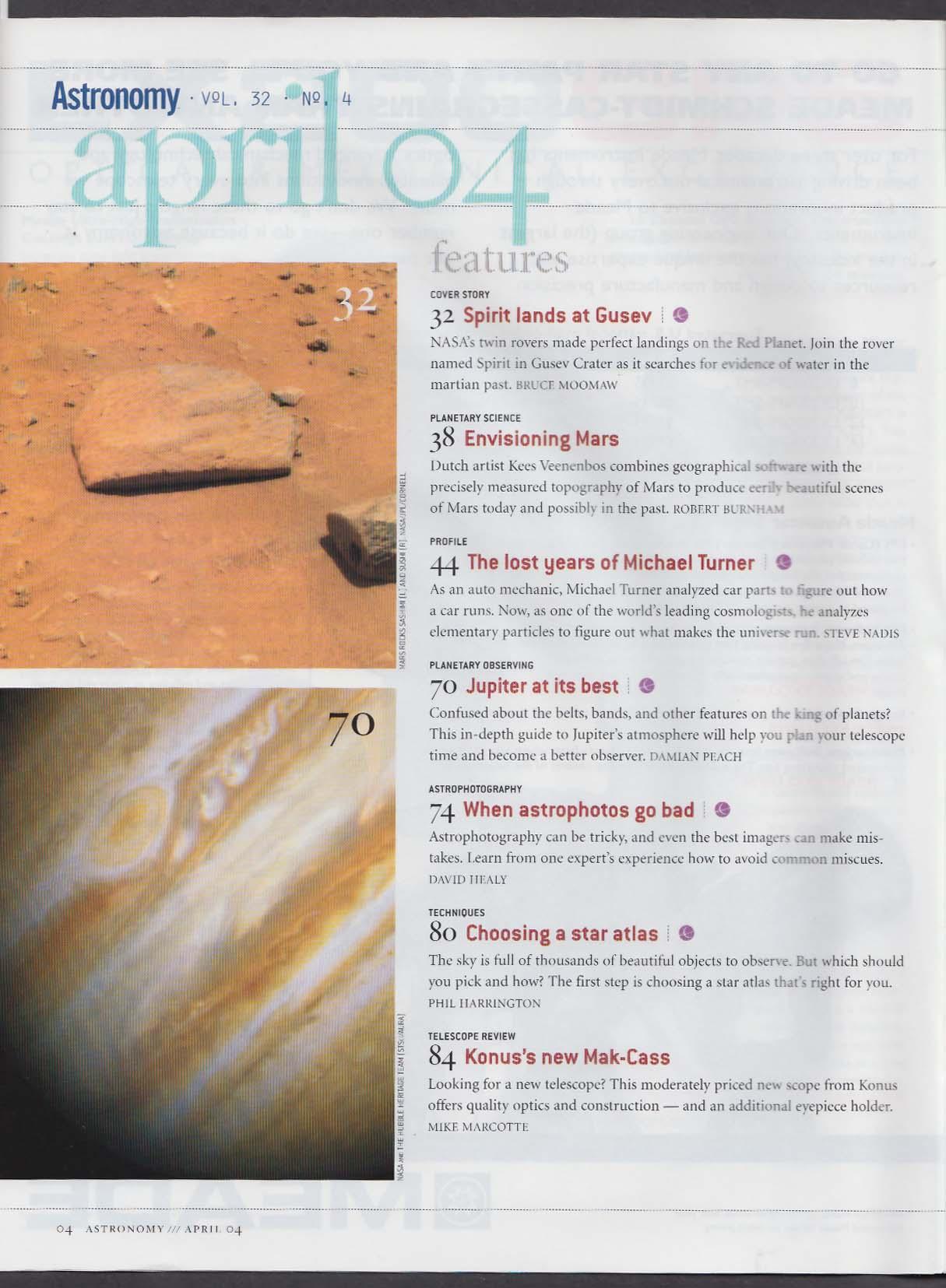 ASTRONOMY Mars Gusev Rovers David Levy Konus Mak-Cass Michael Turner 4 2004