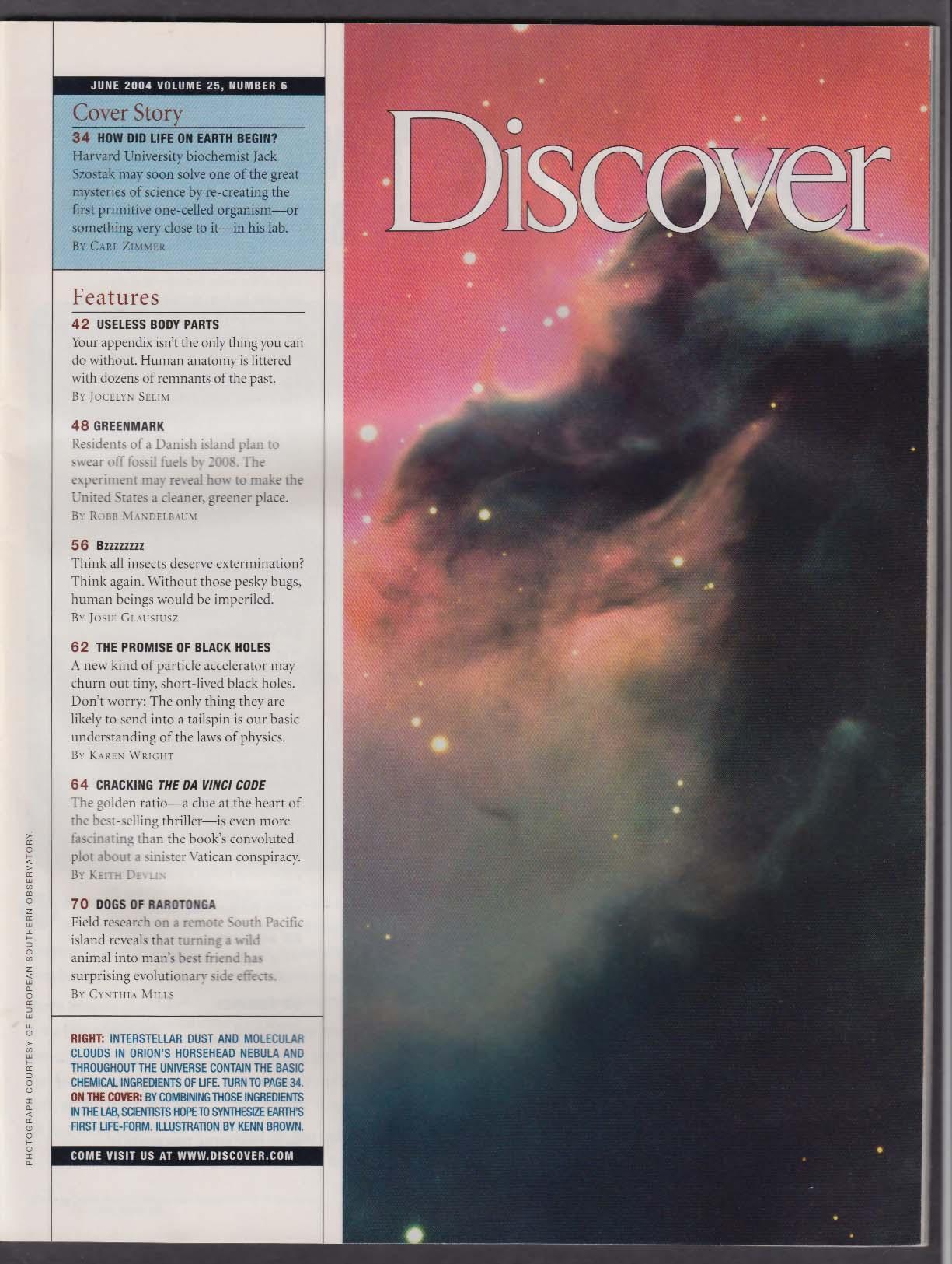 DISCOVER Before DNA? Black holes Da Vinci Code; short-leg dogs ...