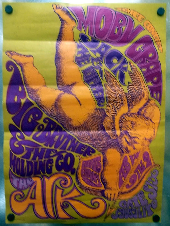 Janis Joplin Big Brother Holding Company Moby Grape the Ark Concert Poster 1967