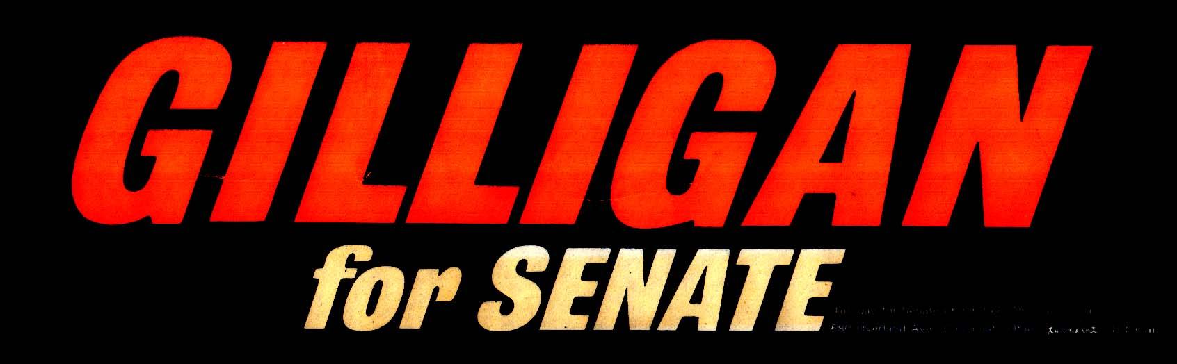 Gilligan for Senate bumpersticker Cincinnati OH 1968