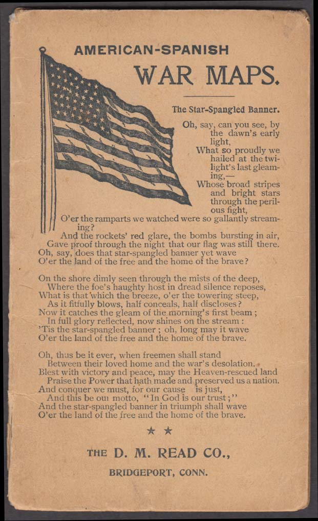 Spanish-American War Maps R M Read Bridgeport CT 1898