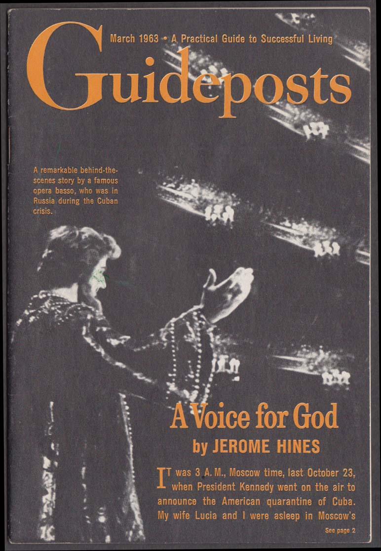 GUIDEPOSTS 3 1963 Jerome Hines; NY window cleaner Ferdinand Ekburg