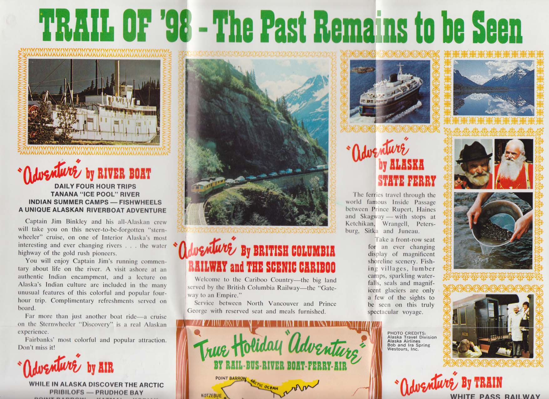 White Pass & Yukon Railroad Alaska & the Yukon schedule 1975