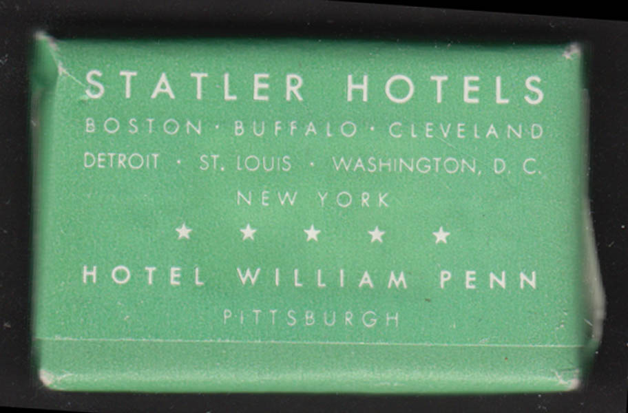 Statler Hotel guest bar of Palmolive soap William Penn Pittsburgh +