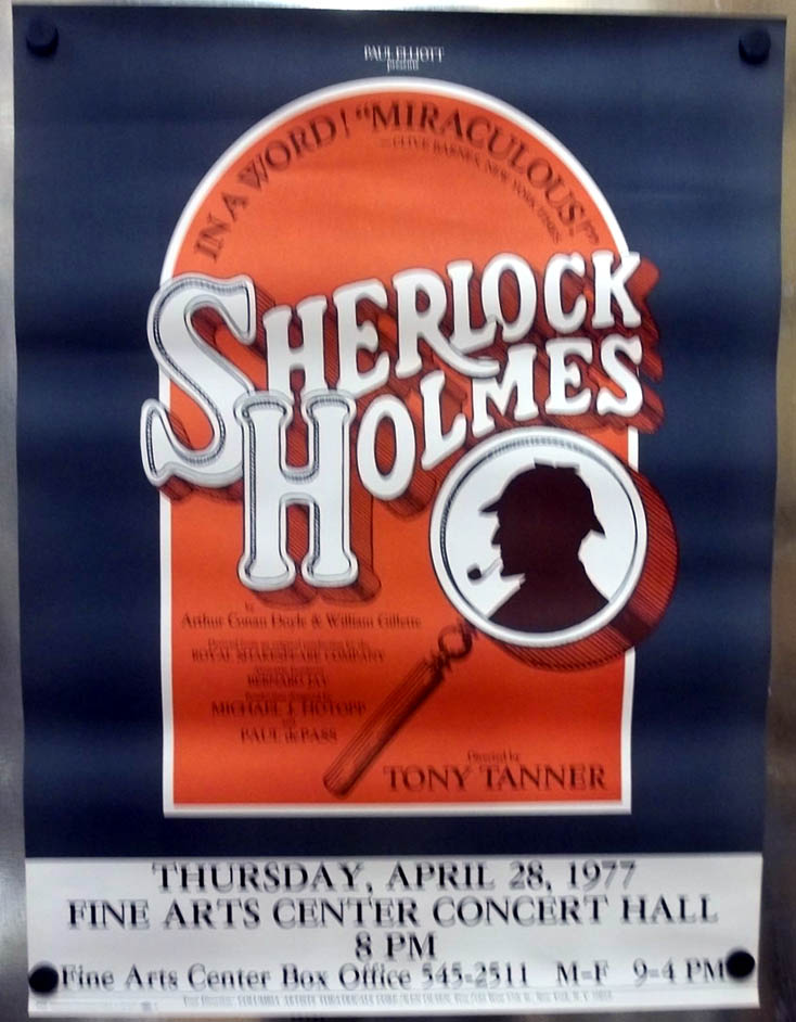 Sherlock Holmes poster 1977 Directed by Tony Tanner UMAss / Amherst