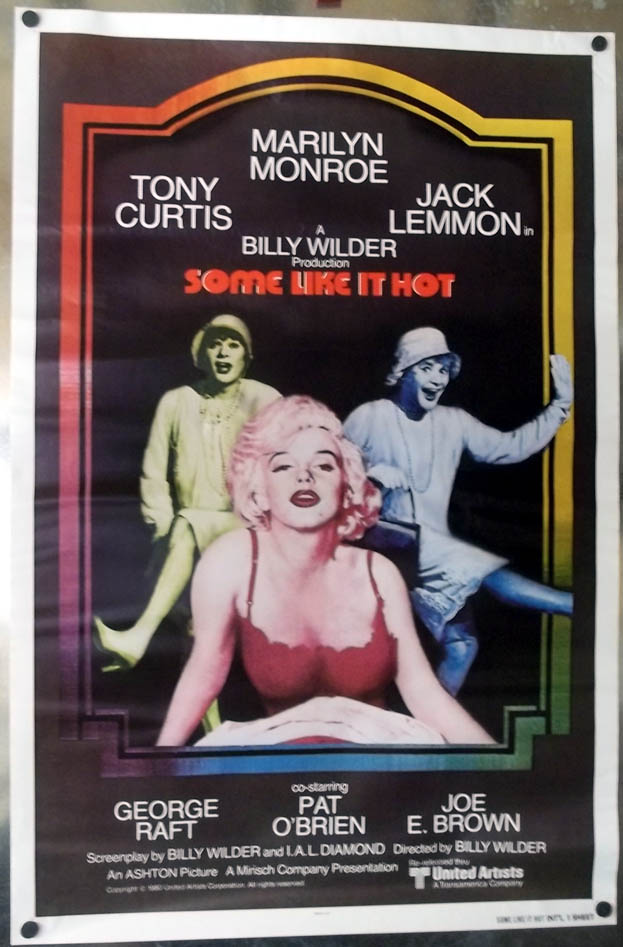Some Like it Hot international movie 1-sheet poster for 1980s re-release