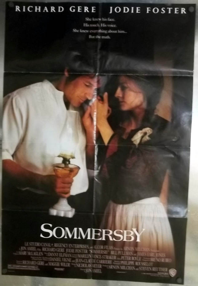 Sommersby one-sheet movie poster Richard Gere Jodie Foster 1993